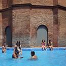 La piscine du château d'eau de l'Eixample