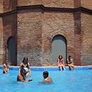 The swimming pool in the Torre de les Aigües in Eixample