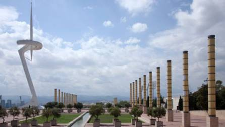 Torre Calatrava a l'Anella Olímpica.
