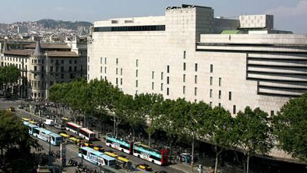 Un centre d'El Corte Inglés, a la plaça de Catalunya.