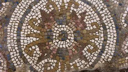 Polychrome mosaic from the Roman house on Sant Honorat