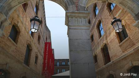 Entrance to the Museum of History of Catalonia