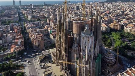 Façana de la Sagrada Família.