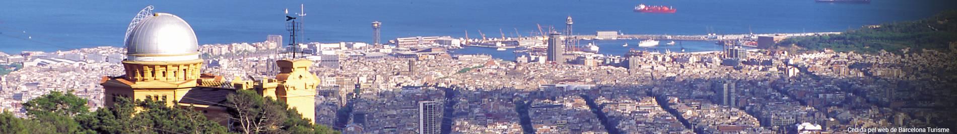 Observatoire Fabra et vue sur Barcelone