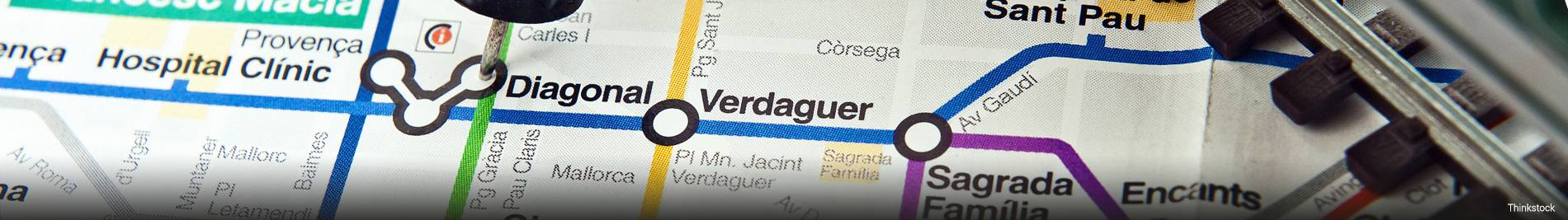 Map of public transport