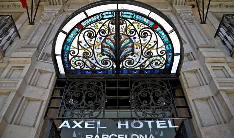 Façade de l'Axel Hotel Barcelona