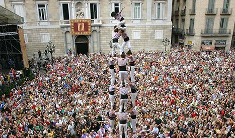 The castellers (human towers)