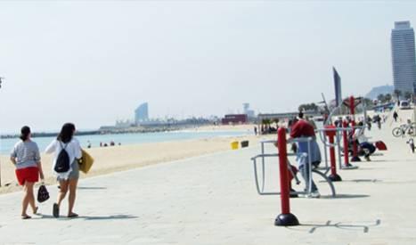Per fer esport, platja Bogatell