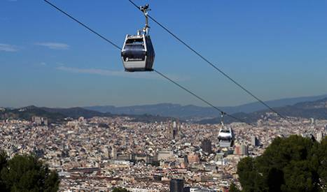 The Montjuïc cable car