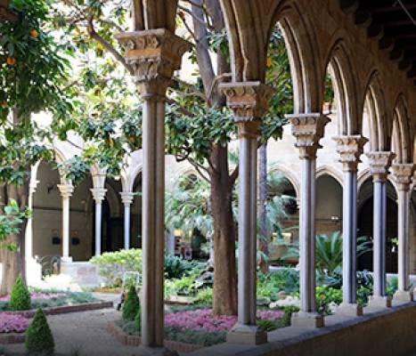 El claustre de l'església de la Concepció