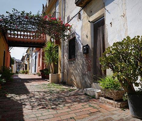 Vista del carrer d'Aiguafreda