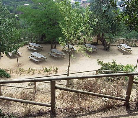 Les zones de pique-nique du parc de l'Oreneta