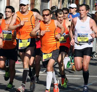 Participants in the Barcelona Half Marathon