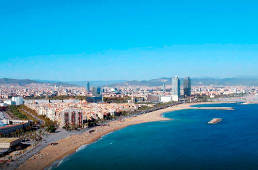 Vista de las playas de Barcelona