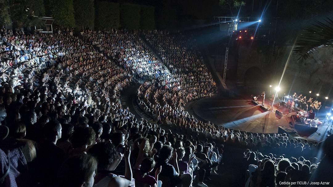 L'escenari del Teatre Grec