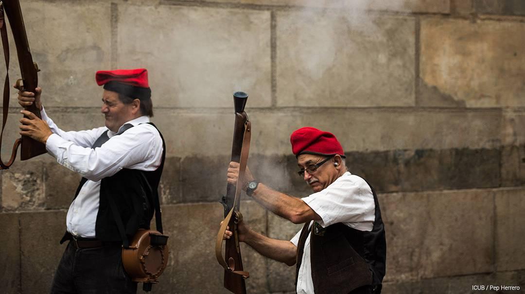 Trabucaires lors de la Festa Major de Sant Andreu