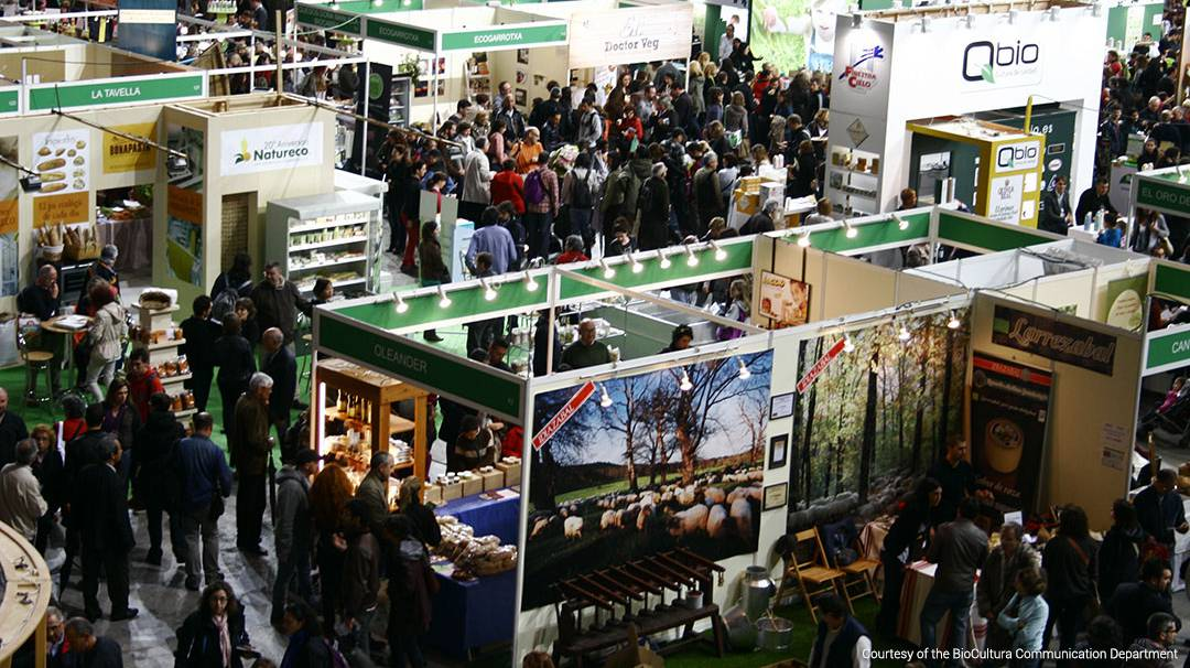 Stands at the Barcelona BioCultura Fair