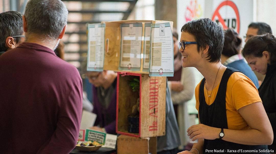 Stands au Salon de l'économie solidaire de Catalogne