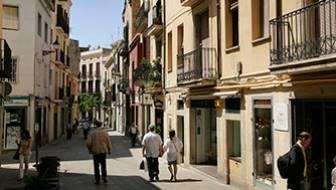 Carrer Major de Sarrià al barri de Sarrià