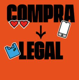 Cartell amb el text: Compra legal