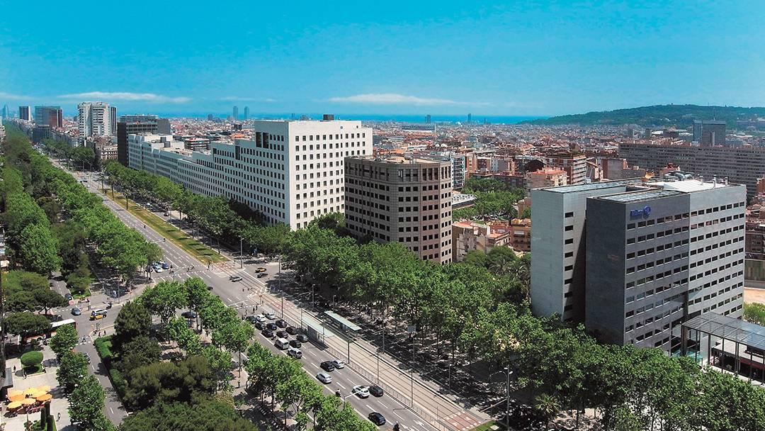 La avenida Diagonal a la altura de Les Corts