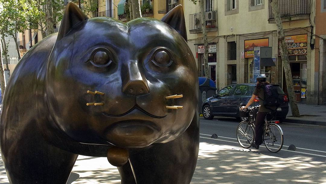 Botero statue on the Rambla