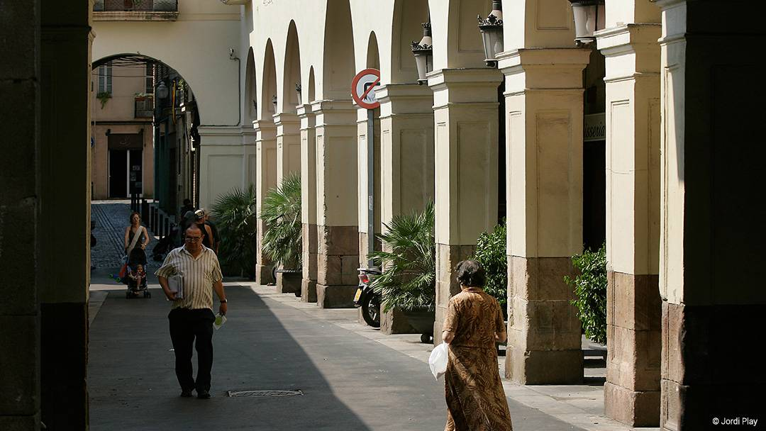 View of a street in Sant Andreu