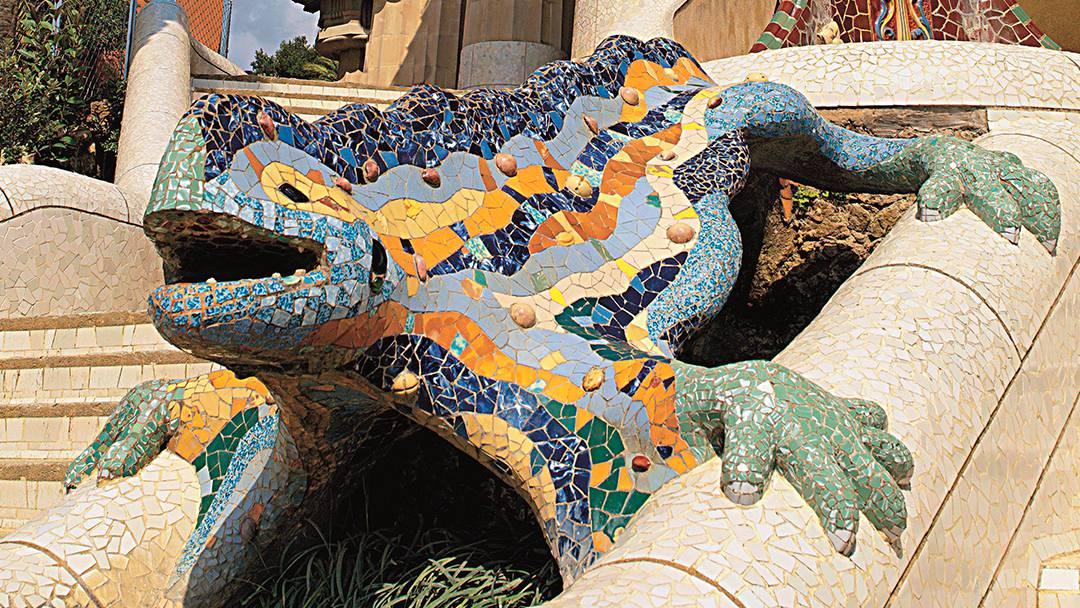 Drac gaudinià al Park Güell
