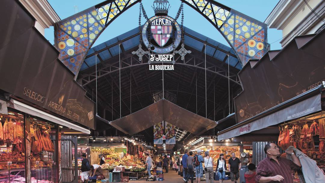 The Boqueria entrance