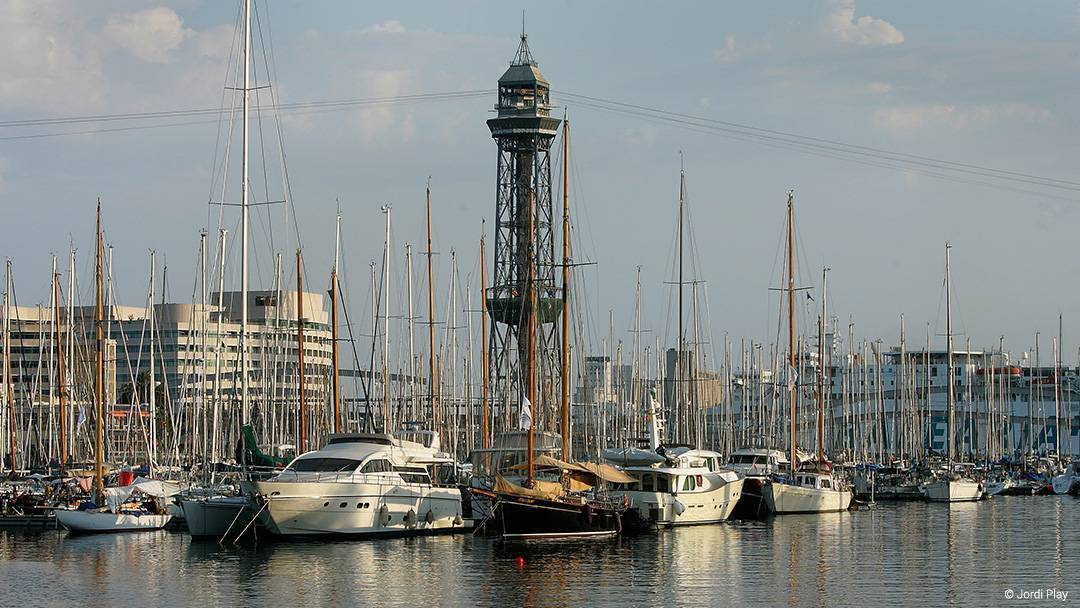 View of Port Vell in Barcelona