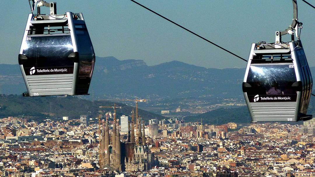 Cabines du téléphérique de Montjuïc
