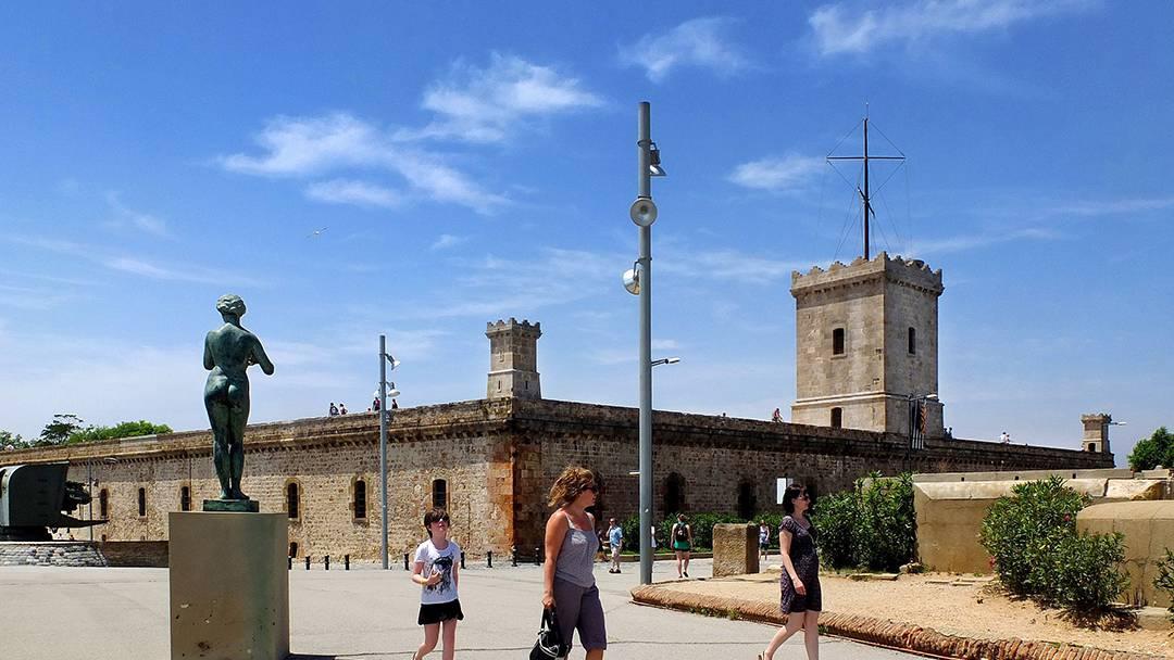 Exteriores del Castillo de Montjuïc