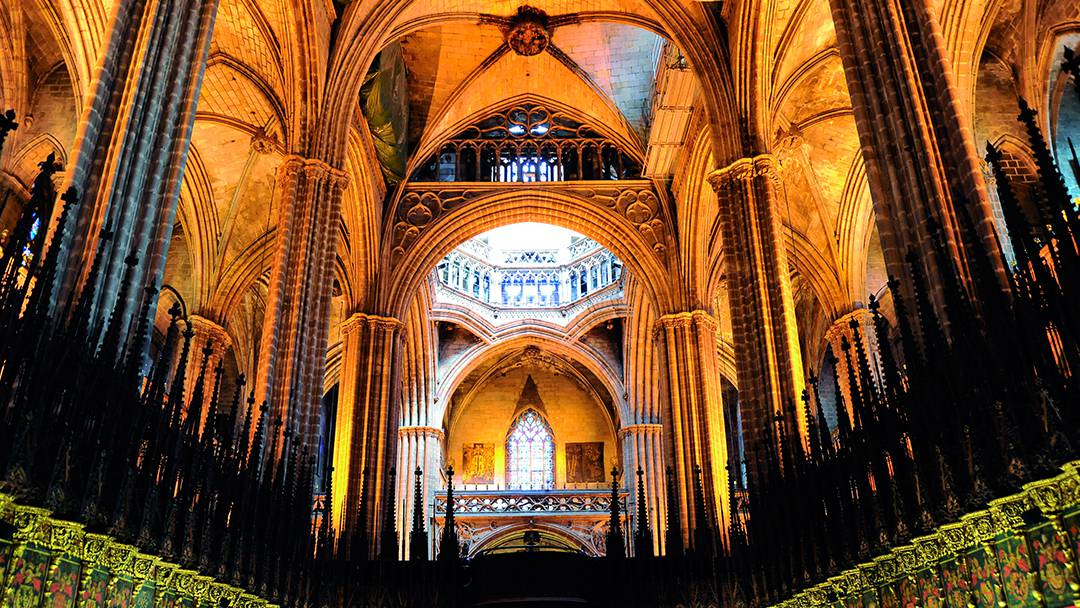 El interior de la Catedral de Barcelona