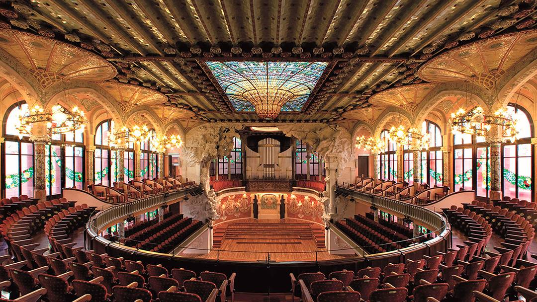 Interior of the Palau de la Música