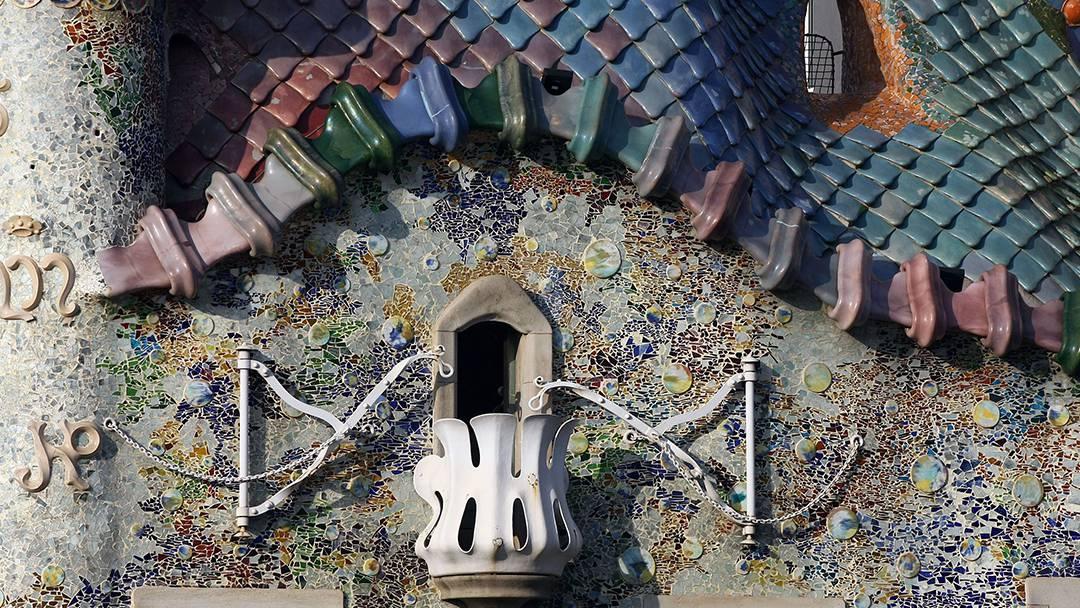 Detalle de la fachada de la Casa Batlló
