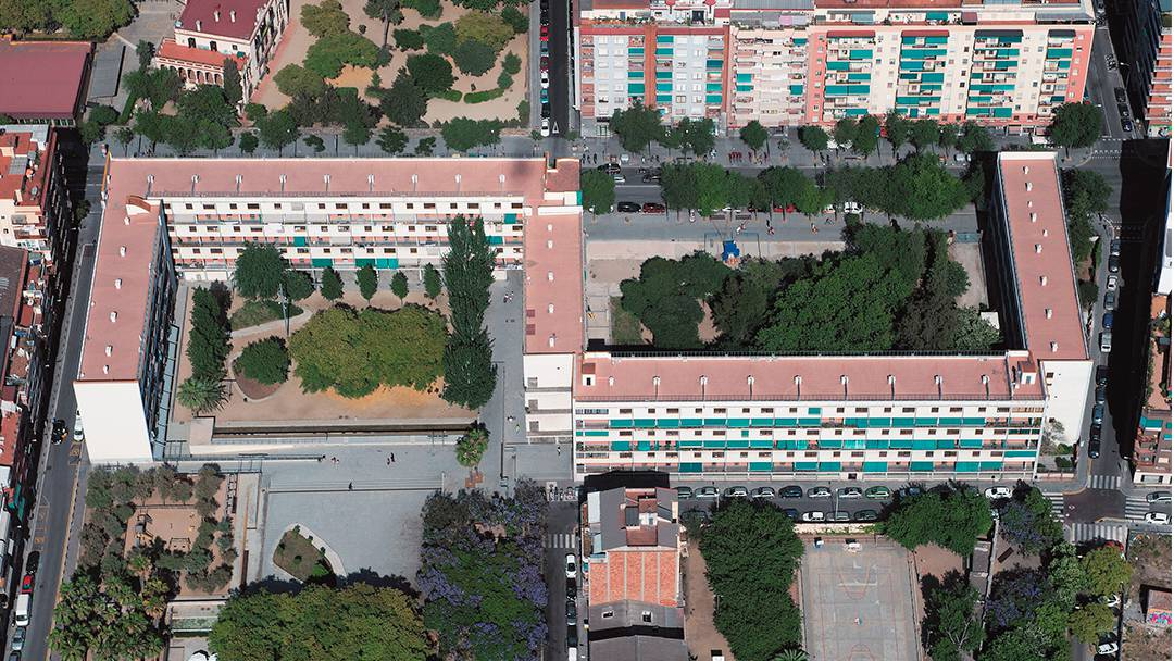 Aerial view of Casa Bloc
