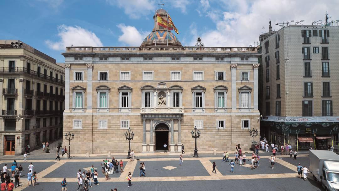 El Palau de la Generalitat a la plaça de Sant Jaume