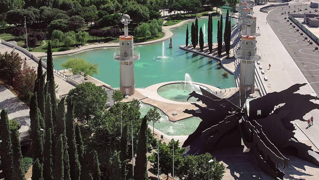 El parque de la Espanya Industrial