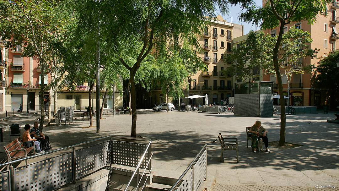 A square in Poble-sec