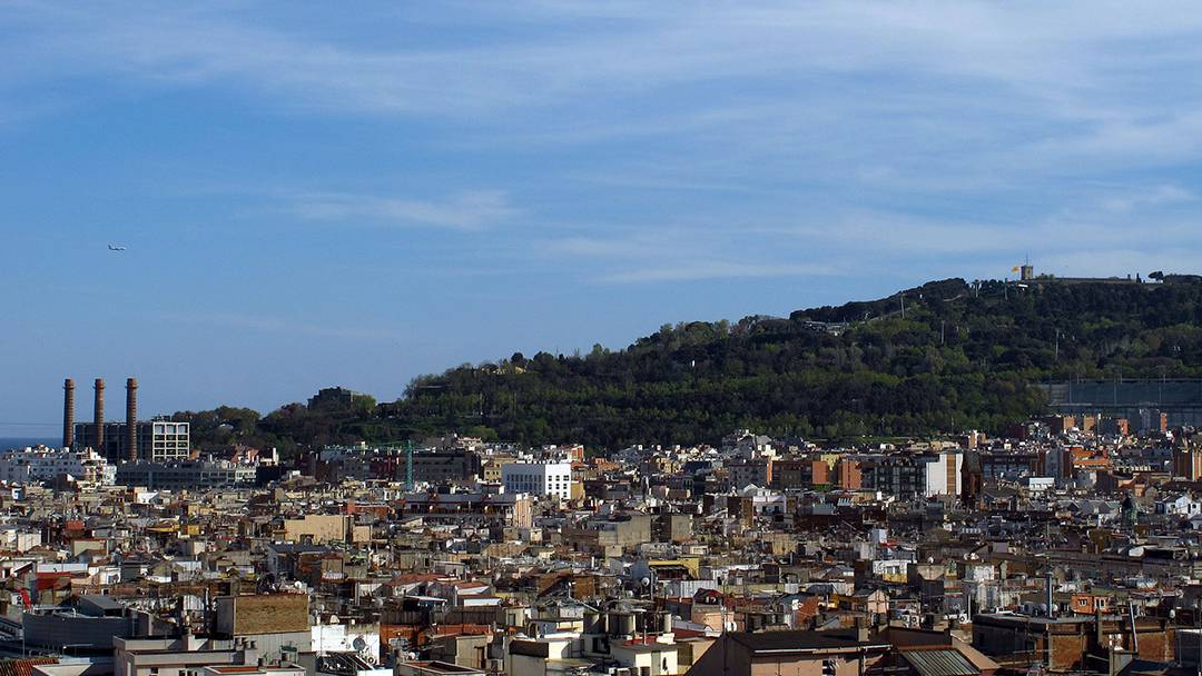 View of Poble-sec and Montjuïc