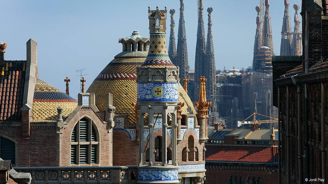 View of Sant Pau Modernista Complex