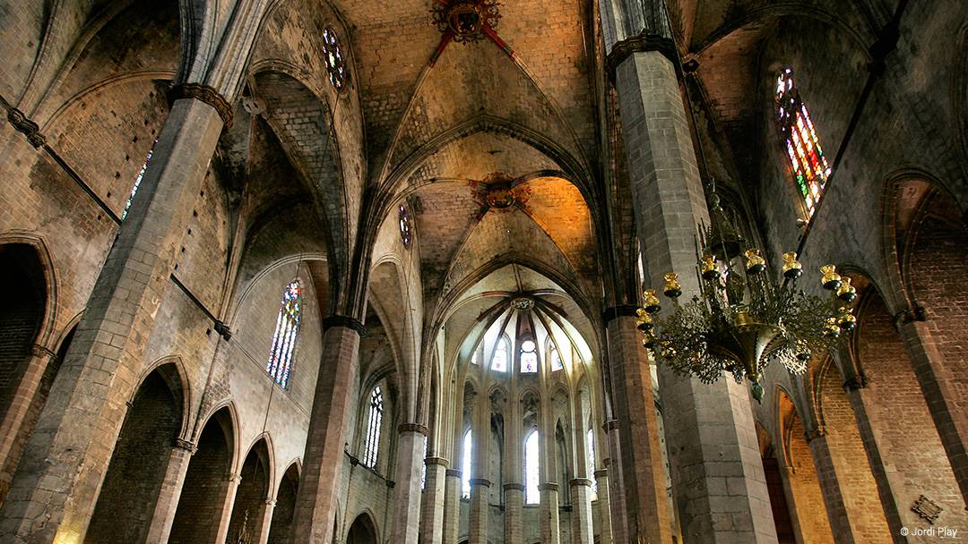 Interior de la basílica de Santa Maria del Mar