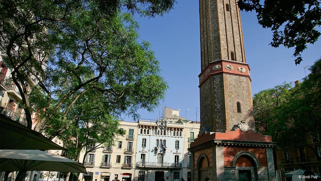 Vista de la plaza de la Vila de Gràcia