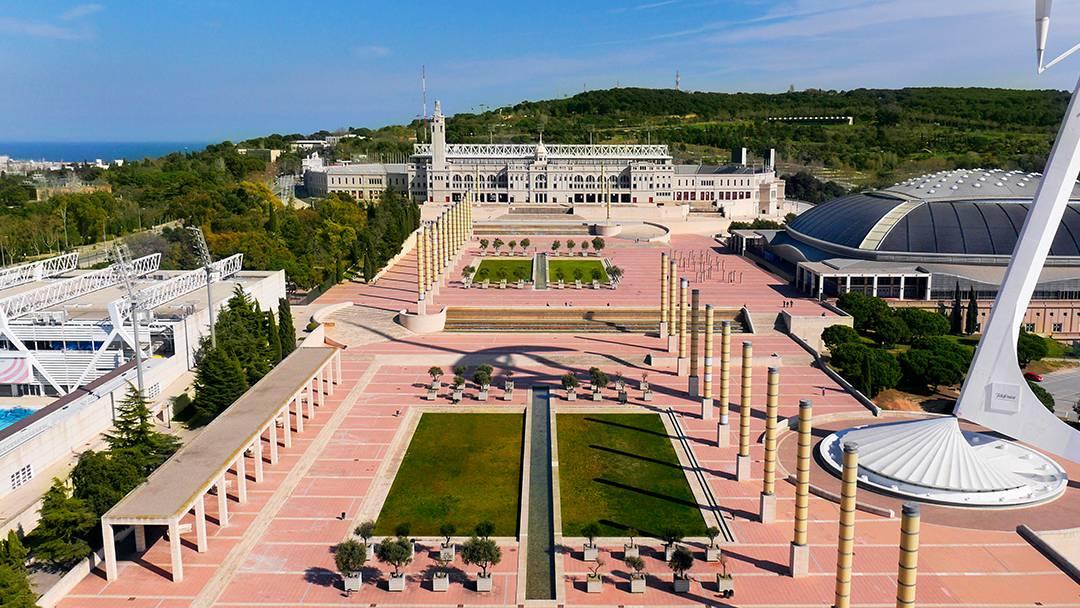 Vue aérienne de l'Anneau olympique