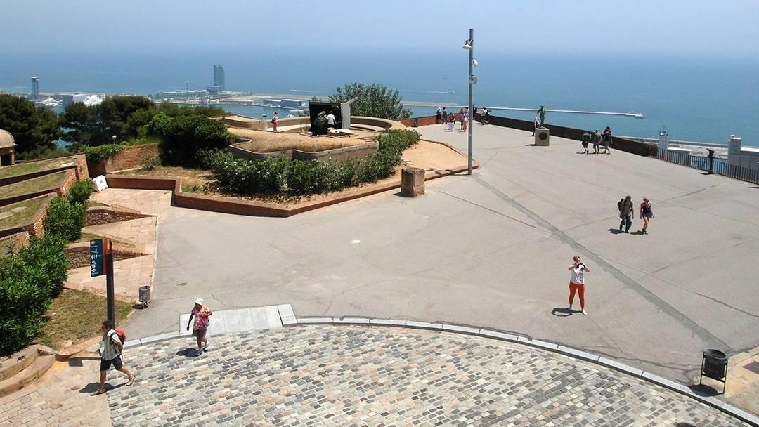 Vue aérienne du Château de Montjuïc