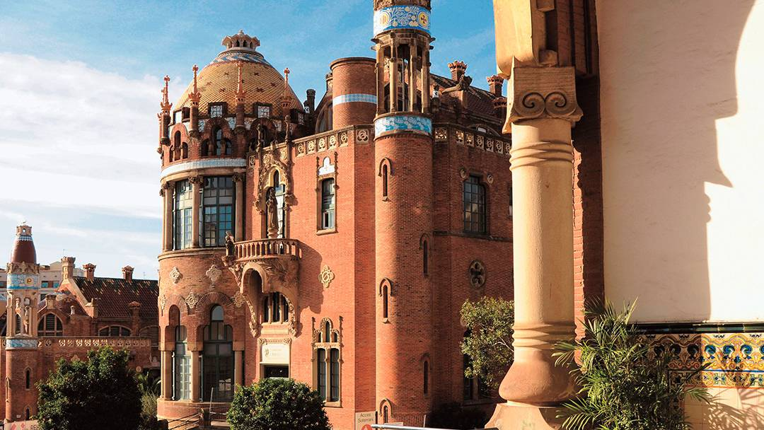 View of the Hospital de Sant Pau Modernista Complex