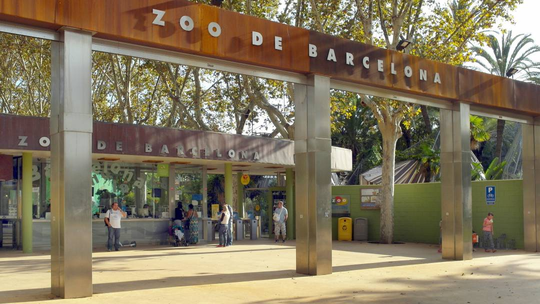 The Barcelona Zoo entrance
