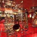Display cabinets at the Museu de la Música,