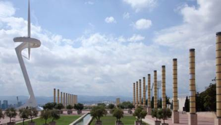 Torre Calatrava en la Anilla Olímpica