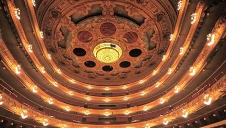Interior del Gran Teatre del Liceu.